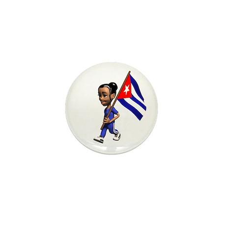 Cuba Girl Mini Button (10 pack)