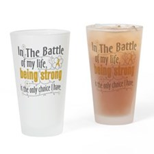 Appendix Cancer Battle Drinking Glass