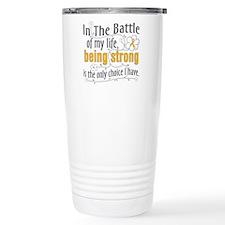 Appendix Cancer Battle Travel Mug