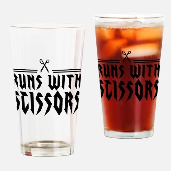 Run With Scissors Drinking Glass