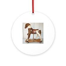 rare antique frenh hobbyhorse Round Ornament