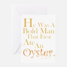 Ate An Oyster Card Greeting Cards