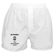 Support The Courtesy Flush Boxer Shorts