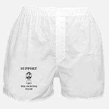 Support The Courtesy Flush Boxer Shorts