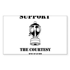 Support The Courtesy Flush Decal
