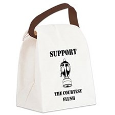 Support The Courtesy Flush Canvas Lunch Bag