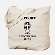 Support The Courtesy Flush Tote Bag