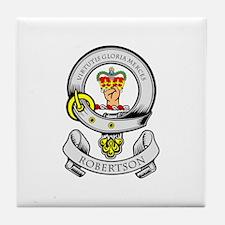 ROBERTSON Coat of Arms Tile Coaster