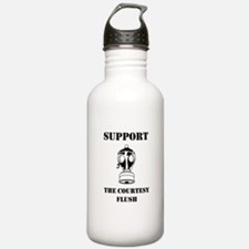 Support The Courtesy Flush Water Bottle