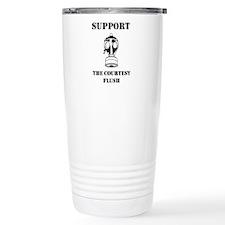Support The Courtesy Flush Travel Mug