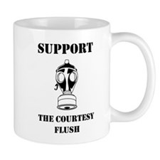 Support The Courtesy Flush Mugs