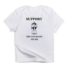 Support The Courtesy Flush Infant T-Shirt