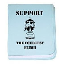 Support The Courtesy Flush baby blanket