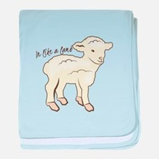 In Like a Lamb baby blanket