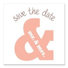 """Save The Date Square Car Magnet 3"""" x 3"""""""