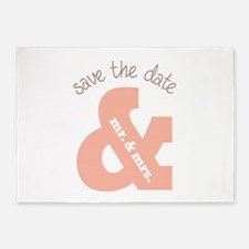 Save The Date 5'x7'Area Rug
