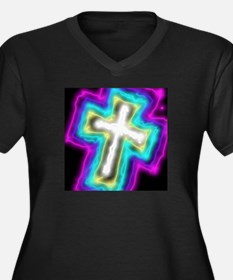 Electrifying Cross Plus Size T-Shirt