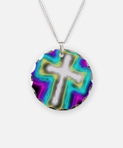 Electrifying Cross Necklace