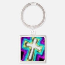 Electrifying Cross Keychains