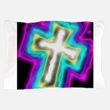 Electrifying Cross Pillow Case