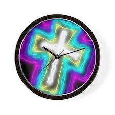 Electrifying Cross Wall Clock