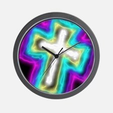 Electrifying Cross Wall Clock