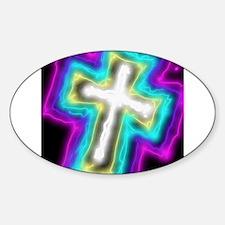 Electrifying Cross Decal