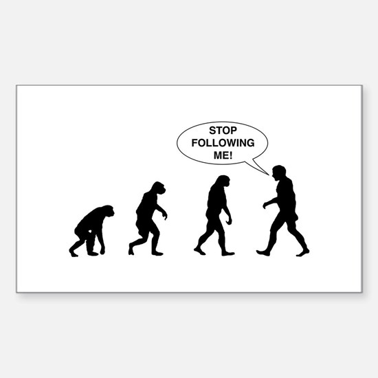 Stop Following Me! Decal