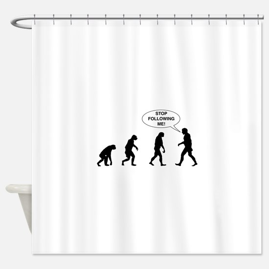 Stop Following Me! Shower Curtain