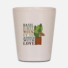 Basil with Love Shot Glass