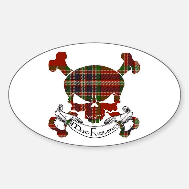 MacFarlane Tartan Skull Decal