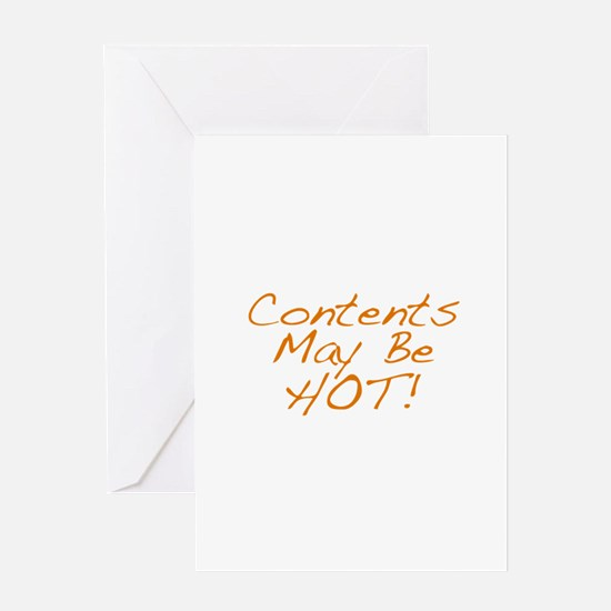 Contents May Be Hot Card Greeting Cards