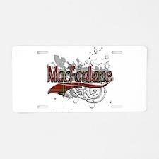 MacFarlane Tartan Grunge Aluminum License Plate