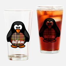 MacFarlane Tartan Penguin Drinking Glass