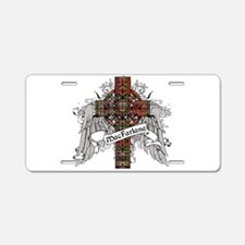 MacFarlane Tartan Cross Aluminum License Plate
