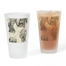 Anatomy Skull Drinking Glass