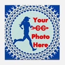 Cross Country Runner Photo Tile Coaster