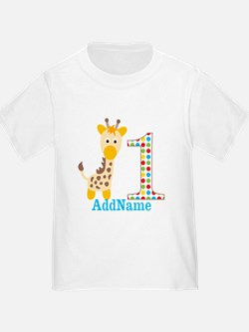 Giraffe First Birthday T