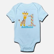 Giraffe First Birthday Onesie