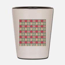 Retro Fun Snail Pattern Shot Glass