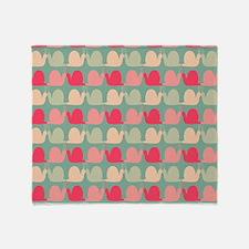 Retro Fun Snail Pattern Throw Blanket