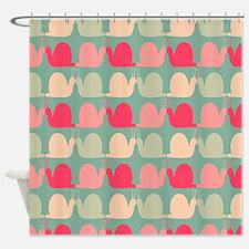 Retro Fun Snail Pattern Shower Curtain