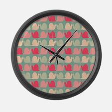 Retro Fun Snail Pattern Large Wall Clock