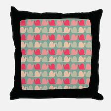 Retro Fun Snail Pattern Throw Pillow