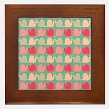 Retro Fun Snail Pattern Framed Tile