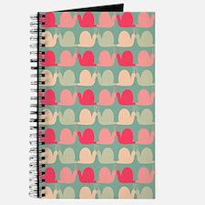 Retro Fun Snail Pattern Journal