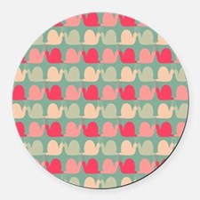 Retro Fun Snail Pattern Round Car Magnet