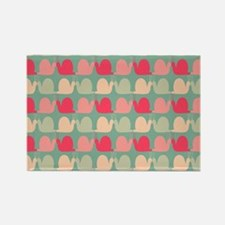Retro Fun Snail Patter Rectangle Magnet (100 pack)