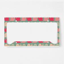 Retro Fun Snail Pattern License Plate Holder