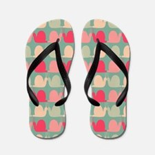 Retro Fun Snail Pattern Flip Flops